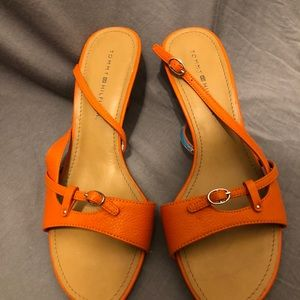 714067bc2e757 Tommy Hilfiger Shoes - Tommy Hilfiger Ladies Leather Slingback